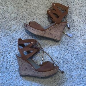New G by Guess Lace Up Wedges